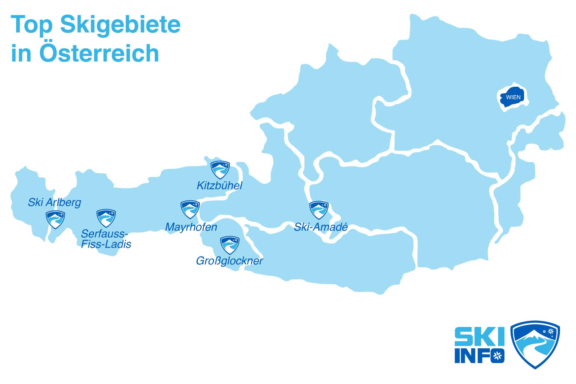 Top Skigebiete in Osterreich