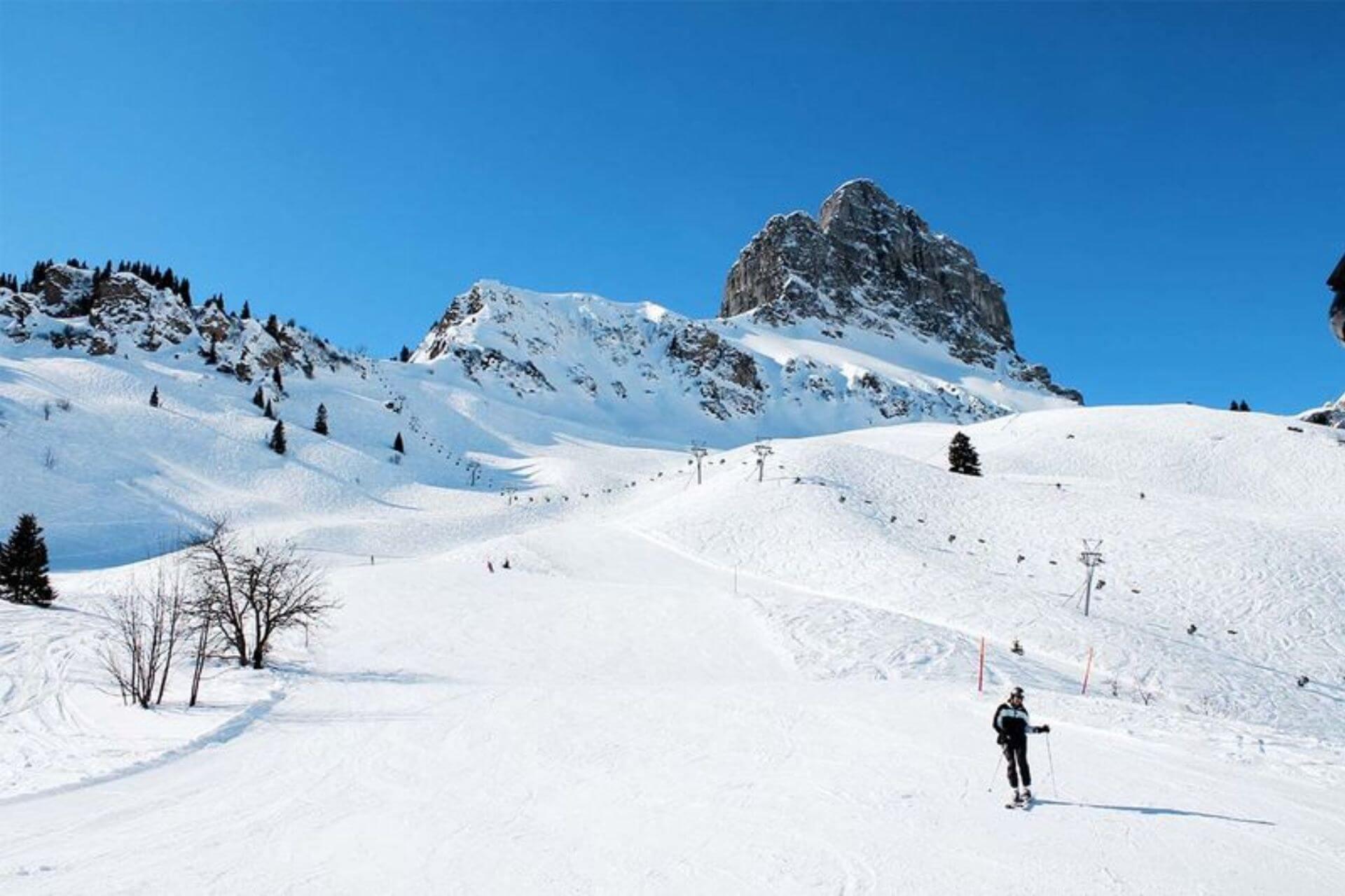 Schneesicherste Gebiete