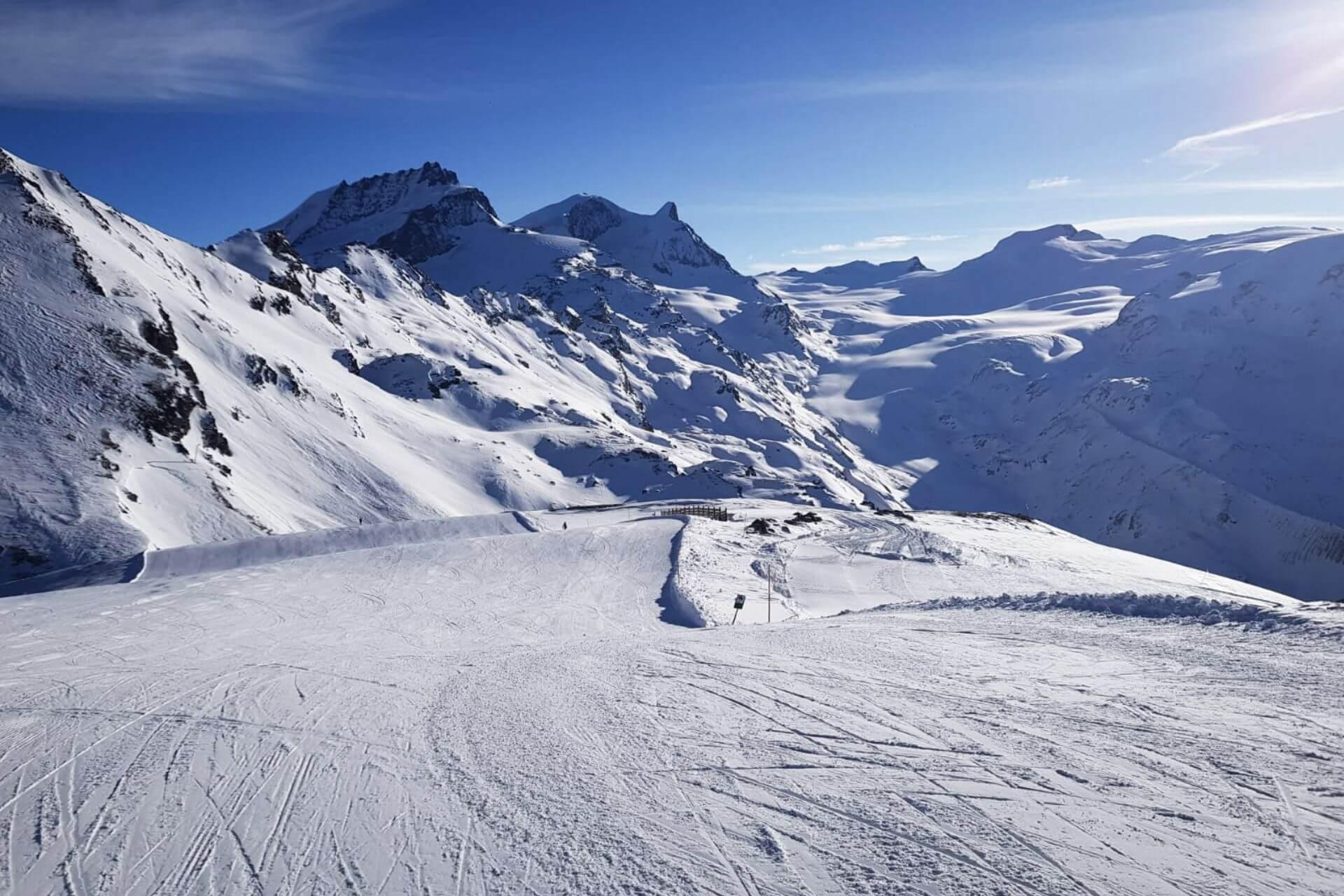 Die längste Skipiste der Alpen