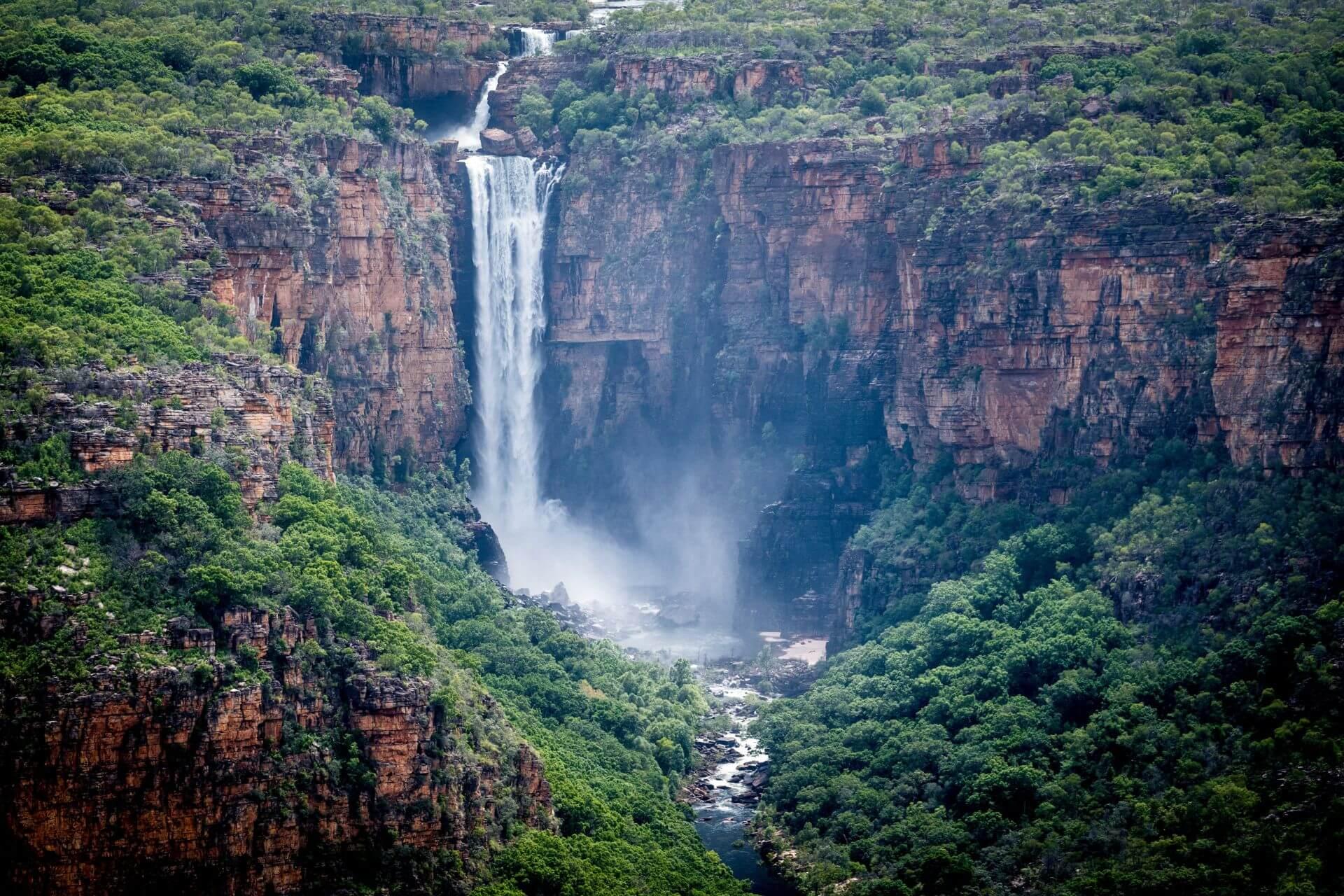 Der Jim Jim Wasserfall im Kakadu Nationalpark